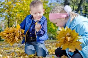 Efterår guide børn rolige aktiviteter