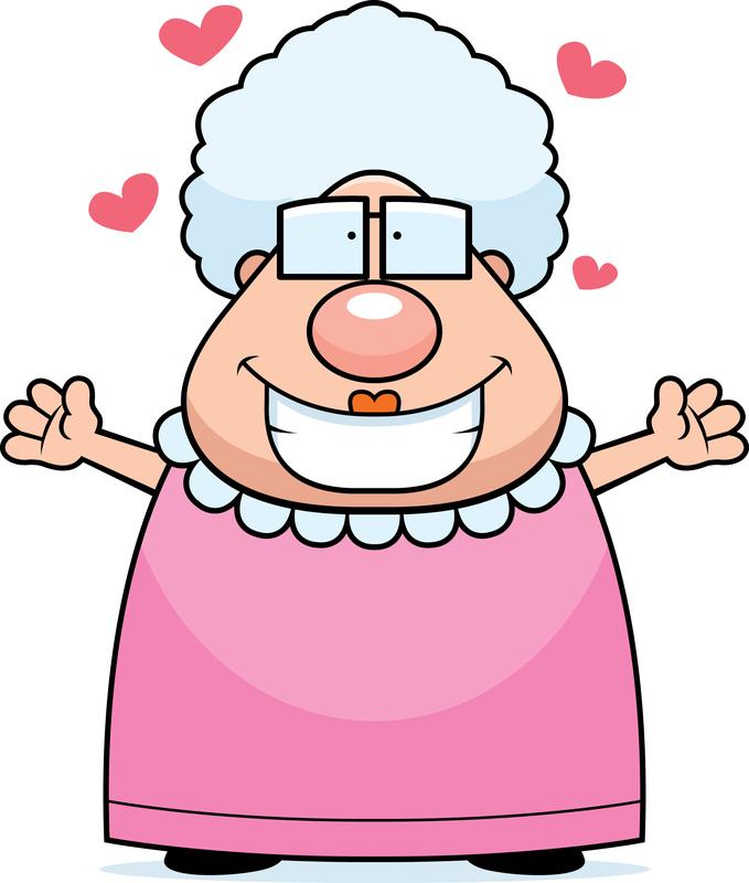 Når faster Grete vil kramme, -igen